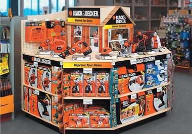 In-Store Display solution for Lowe's tool area.