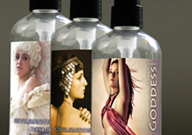 Custom labels for a cosmetics product title=Custom Printed Labels
