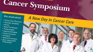 Cover of healthcare symposium brochure
