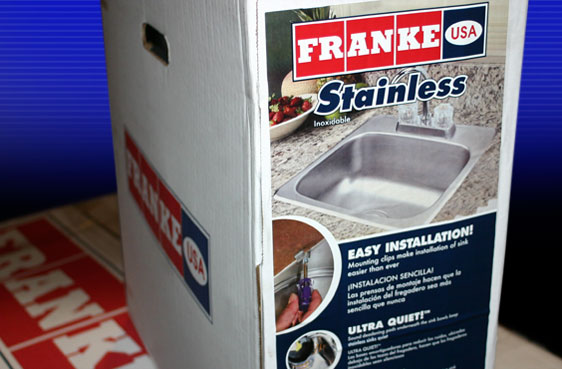 Custom Carton Label for FRANKE USA Sink Packaging