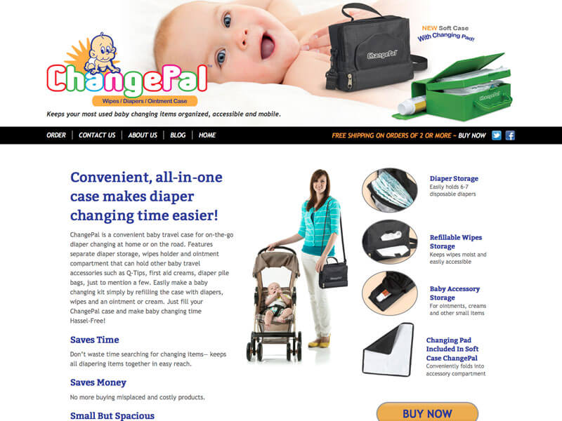 B to C eCommerce website for mychangepal.com.
