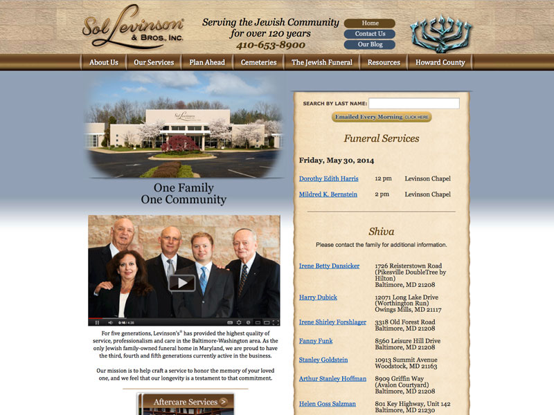 B to C Informational & Lead Generating Website for Sol Levinson & Bros. Inc.