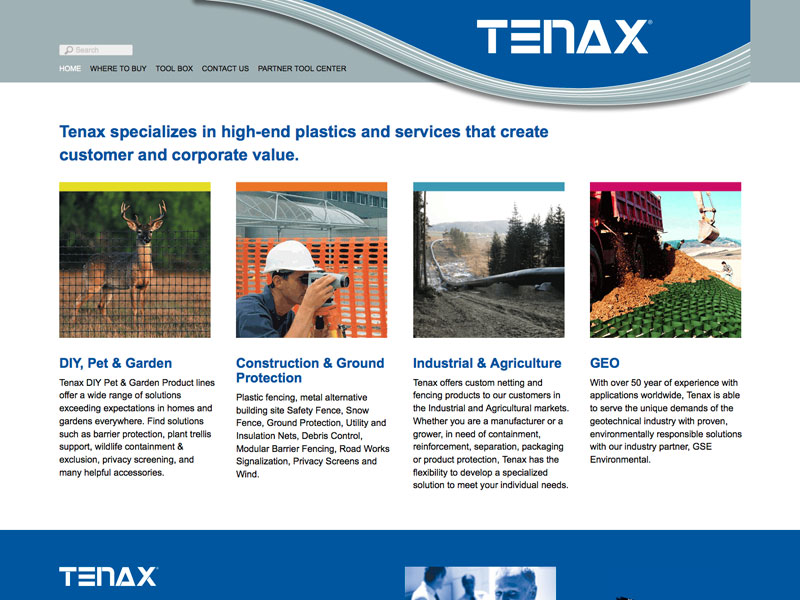 B2B and B2C website for www.tenaxus.com