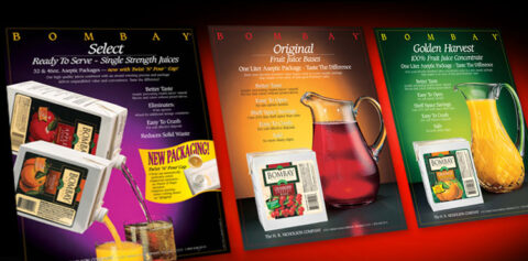 Print advertising and package design materials