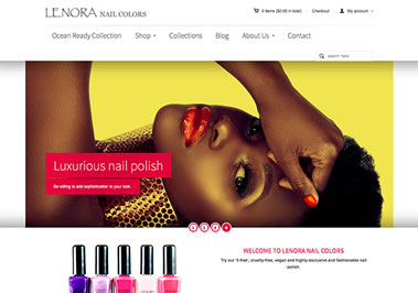 Lenora Nail Colors Website
