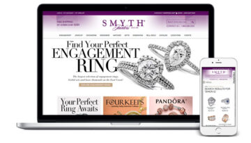 Website of Smyth Jewelers presented as both large and mobile screen sizes