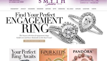 Detail of the Smyth Jewelers website