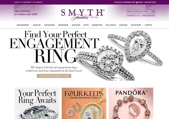 Ecommerce & Lead Generating Website with a Blog for Smyth Jewelers
