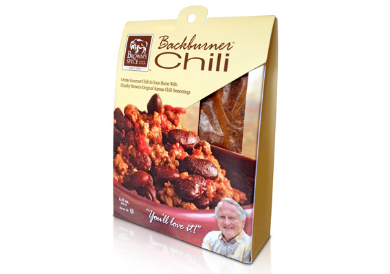 Backburner Chili Retail Packaging Design