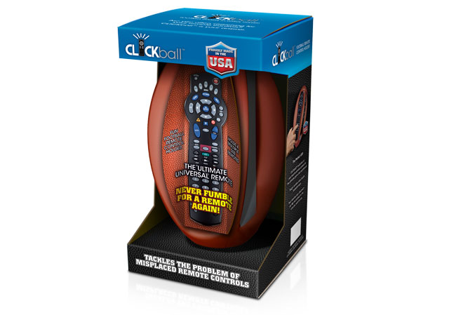 The Ultimate Universal Remote Control Holder Retail Package. title=ClickBall