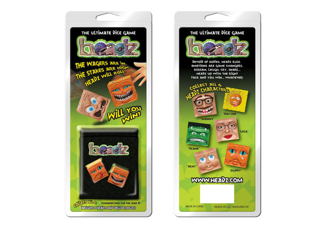Headz Dice Retail Packaging