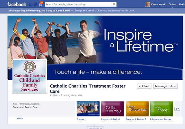 Facebook presence title=Catholic Charities CFS TFC
