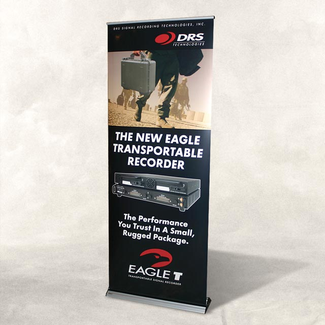 Custom designed portable tradeshow displays for Floor banner