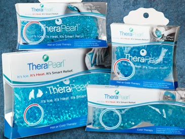 Original packaging for TheraPearl products