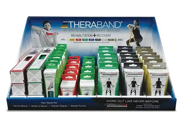 Retail product point of purchase cardboard counter display.
