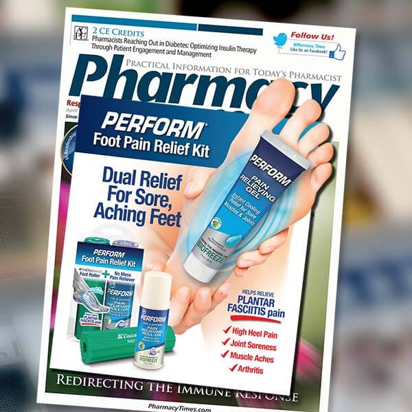 Magazine insert with a product sample.