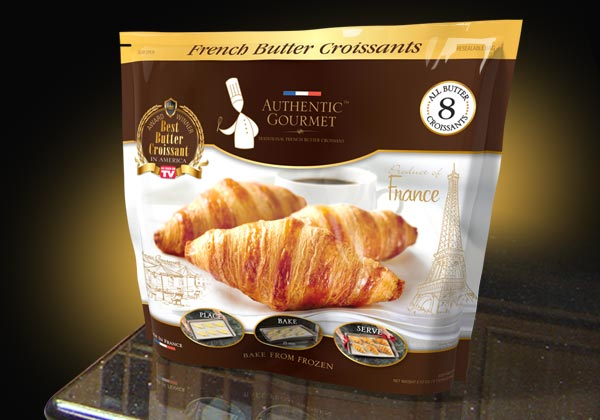 Custom package design for a gourmet food product.