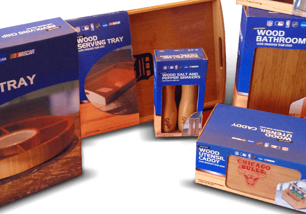 Packaging example of a branded product lineup