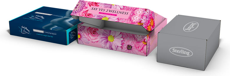 Printed product mailer boxes