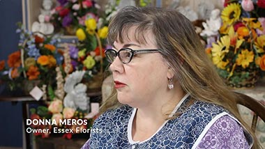 Portrait of Donna Meros Owner of Essex Florist