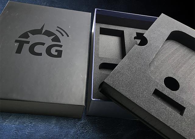 Luxury packaging with custom cut foam inserts