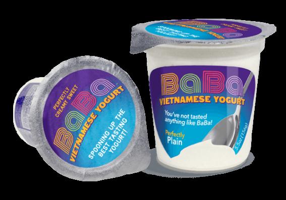 Foil covered yogurt cup custom packaging