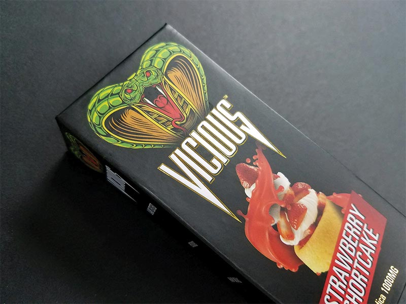 PAckaging with Vicious Vape logo