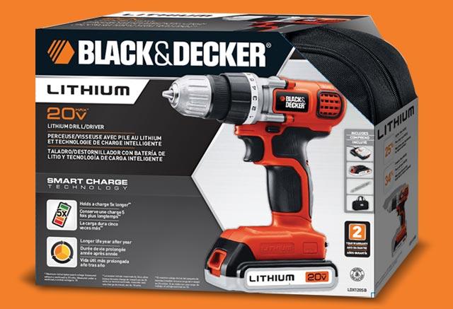 Black & Decker 20volt lithium drill packaging