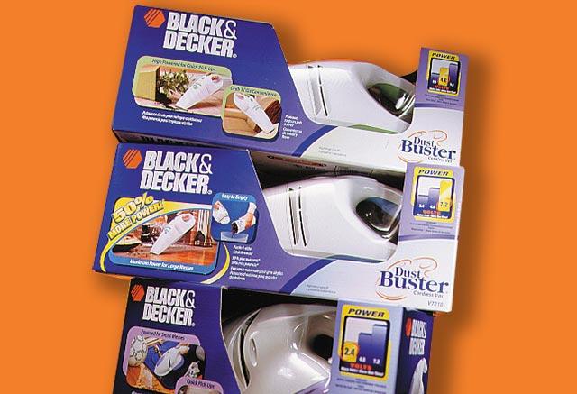 Black & Decker Dust Buster packaging