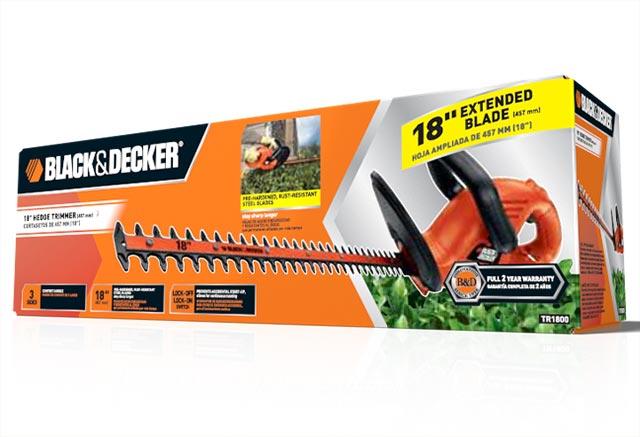 Black & Decker hedge trimmer packaging
