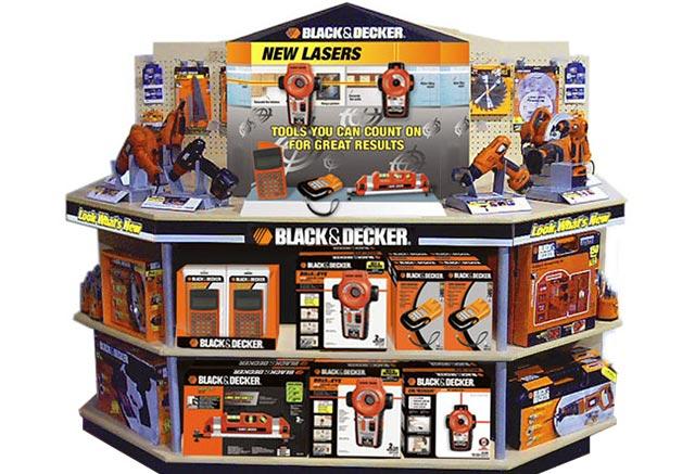 Black & Decker retail tool display