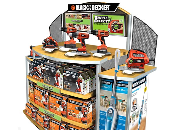 Black & Decker in store point of purchase display