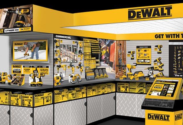 DeWalt tools retail store display