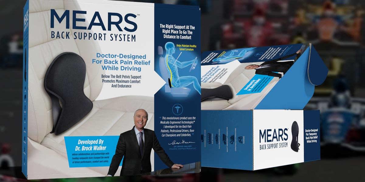 MEARS Back Pain Relief Product Packaging Design Case Study