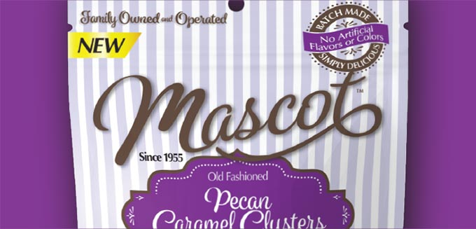 Closeup of the details on new Mascot packaging