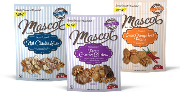 Final stage of brand evolution of Mascot packaging and logo