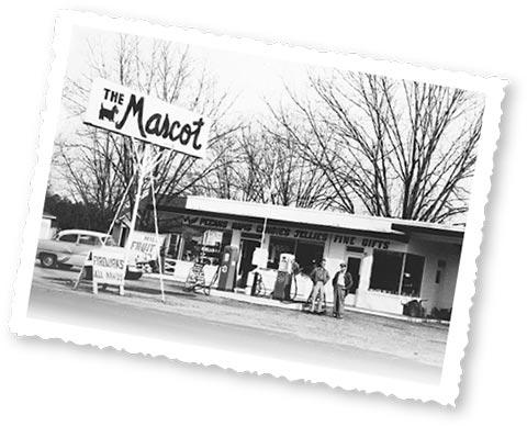 Historical photo of the Mascott Shelling Company storefront